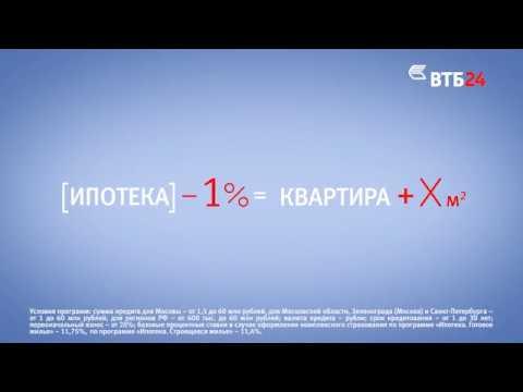 Ипотека в ВТБ24: Больше места для творчества  - (видео)