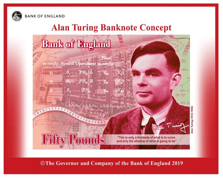 Банк Англии выпустит новую банкноту в 50 фунтов стерлингов с Аланом Тьюрингом - «Новости Банков»