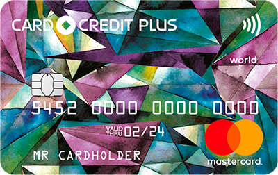 CARD CREDIT PLUS Mastercard World - первая в рейтинге - АО «Кредит Европа Банк»