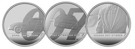 Джеймсу Бонду посвятили монету с «секретным» текстом - «Новости Банков»